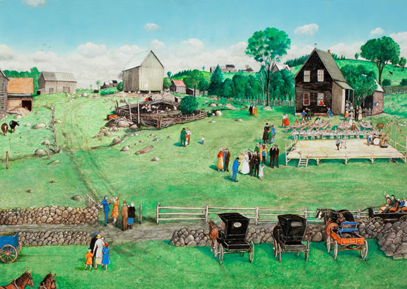 "Kurelek William, ""Polish Wedding"""