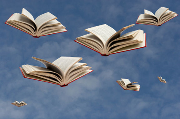 Books-flying